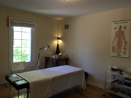 One of our acupuncture treatment rooms in Richmond Hill clinic location